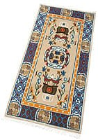 【高密度】手織りのチベット絨毯【約90cm×約180cm】