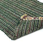 インドコットンの手織りラグマット【約65cm×約42cm】 - 濃緑