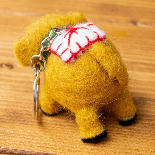 もこもこぞうさんのキーホルダー 【オレンジ】 2 - 後ろ姿はこんな感じ。コロンとしていて可愛いです。