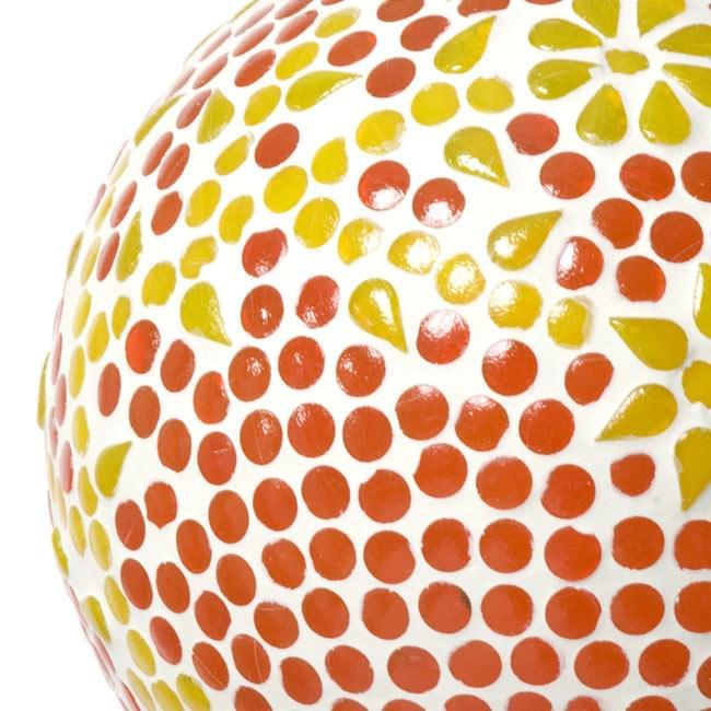 吊り下げモザイクランプ - 球形 (直径:約15cm)の写真4 - Aの柄の拡大写真です。