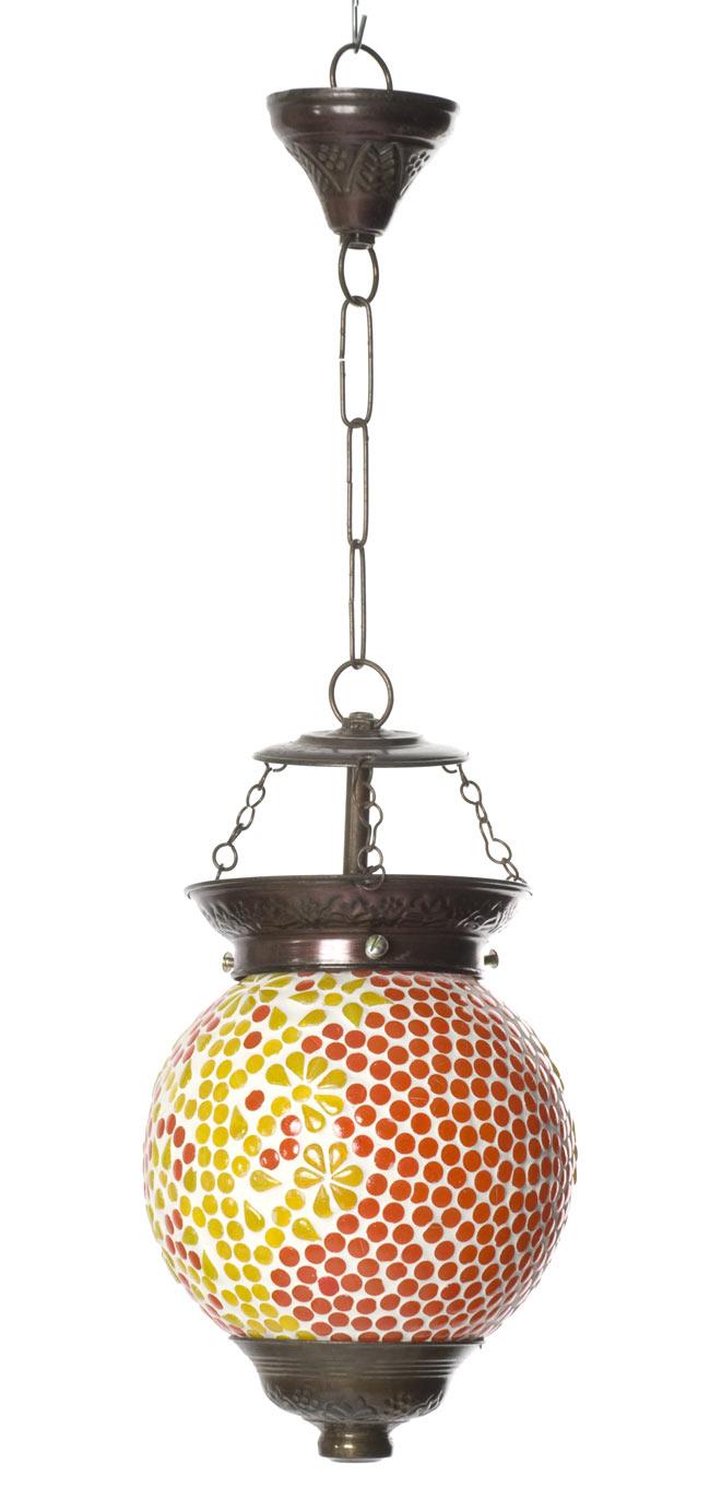 吊り下げモザイクランプ - 球形 (直径:約15cm)の写真6 - Cの柄の写真です。