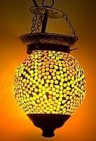 吊り下げモザイクランプ - 球形 (直径:約15cm)