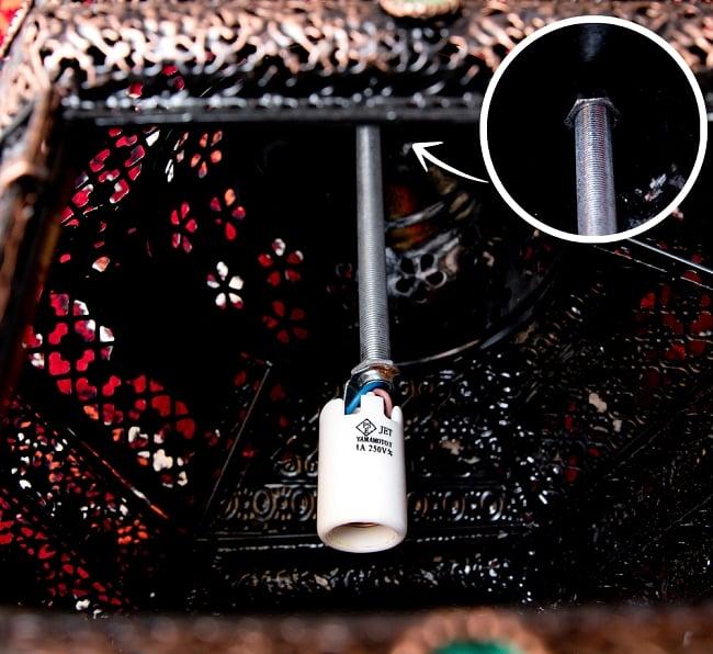 吊り下げアラビアンランプ - 提灯型 10 - 内部の写真です