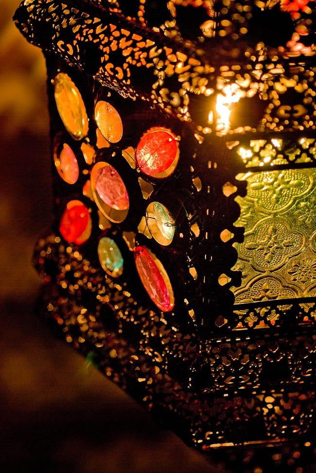 吊り下げアラビアンランプ - 提灯型 3 - 異国の情景をしのばせるランプです。