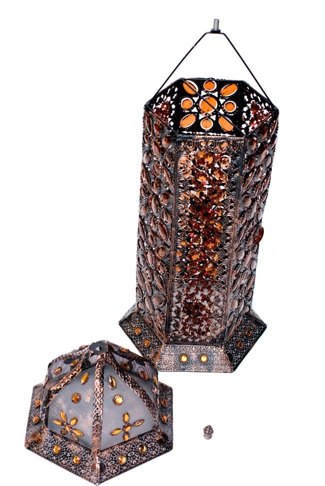 床置きアラビアンランプ - 柱型の写真14 - 頂上部分はこのように取り外しができます。