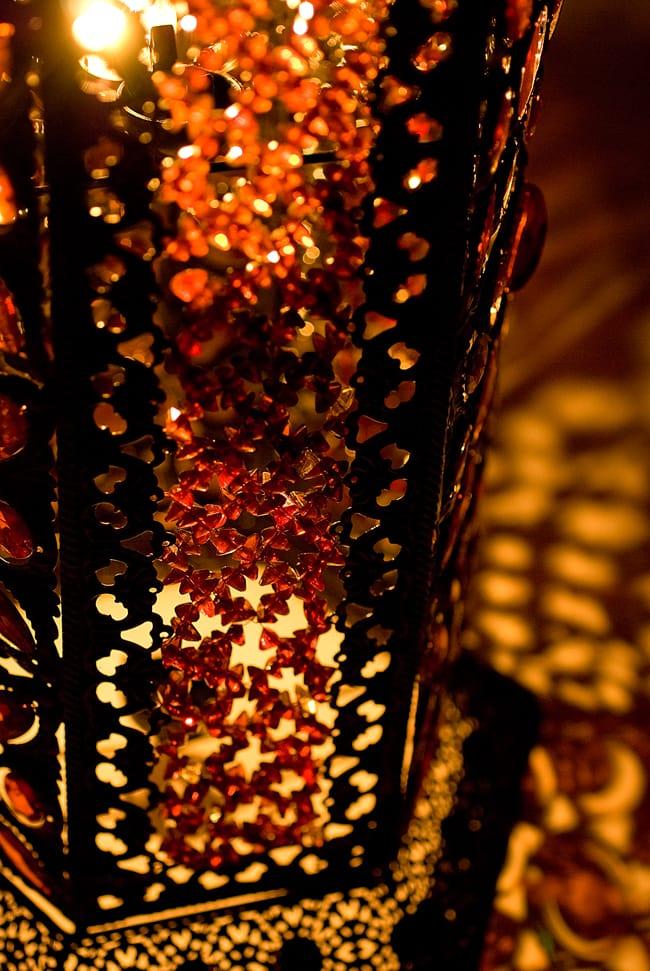 床置きアラビアンランプ - 柱型の写真4 - 拡大写真です。