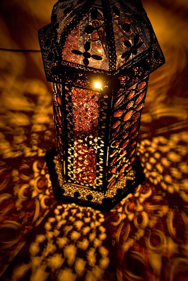 床置きアラビアンランプ - 柱型の写真7 - 角度を変えてみてみました。