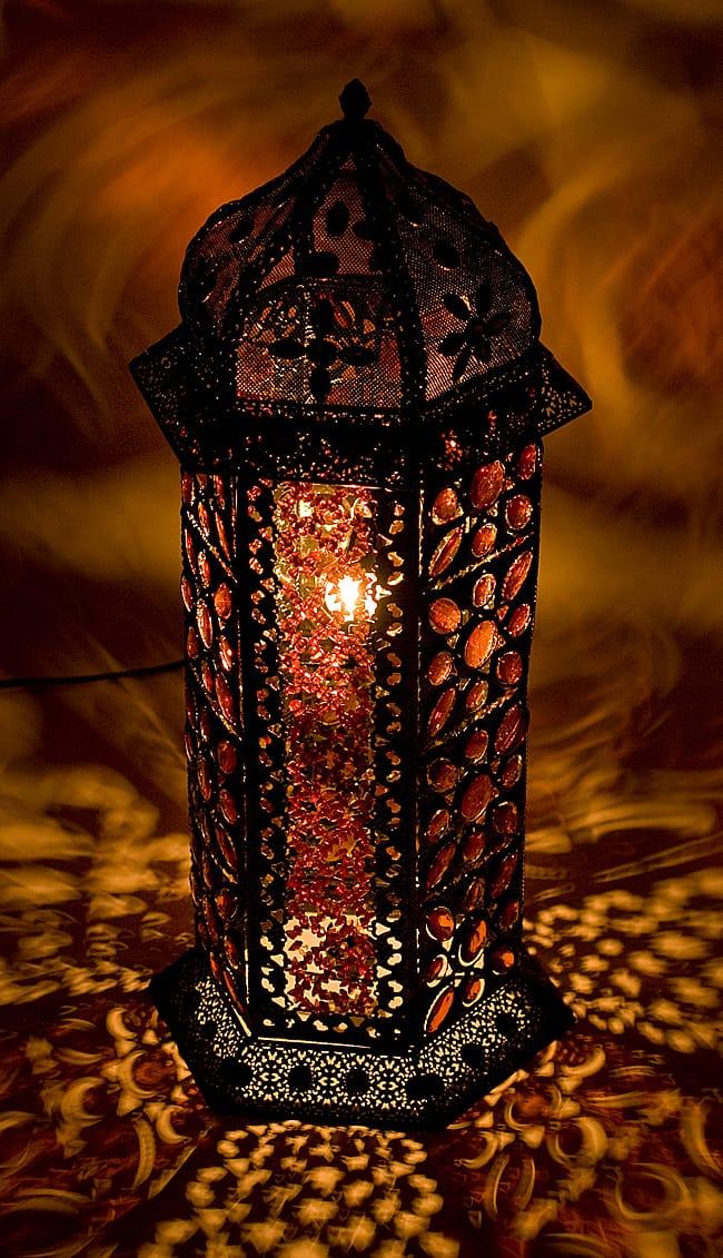床置きアラビアンランプ - 柱型の写真