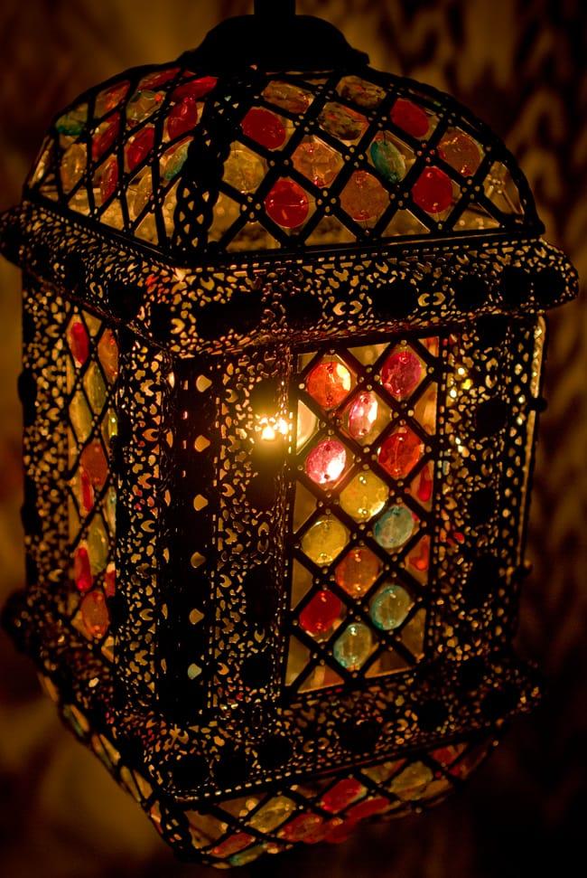 吊り下げアラビアンランプ - 提灯型の写真2 - 拡大写真です。