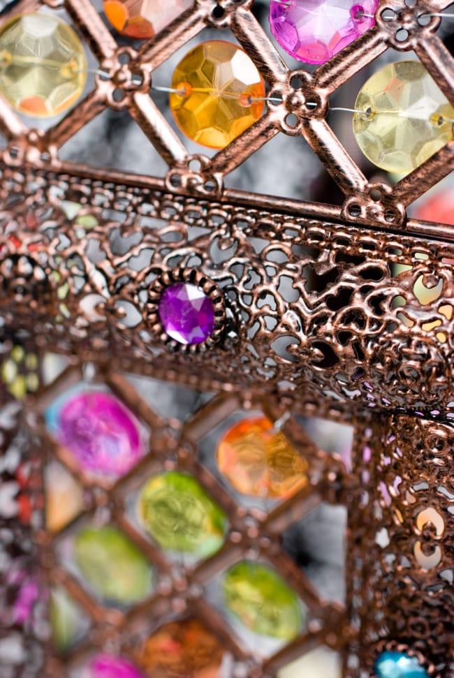 吊り下げアラビアンランプ - 提灯型の写真7 - 細部をみてみました。編み目が美しいですね。