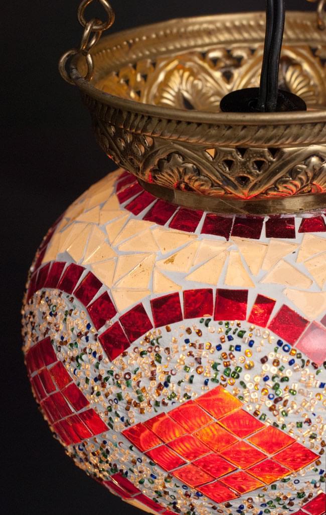 天吊 - カラフルモザイク・ハーレムランプの写真4 - 細かいところまでしっかりと作られています