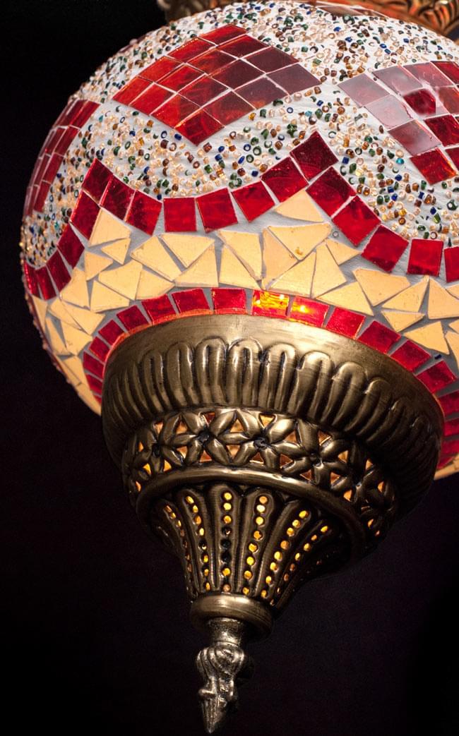 天吊 - カラフルモザイク・ハーレムランプの写真5 - 斜め下からです