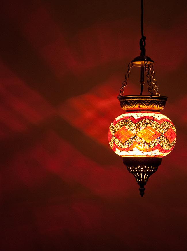 天吊 - カラフルモザイク・ハーレムランプの写真