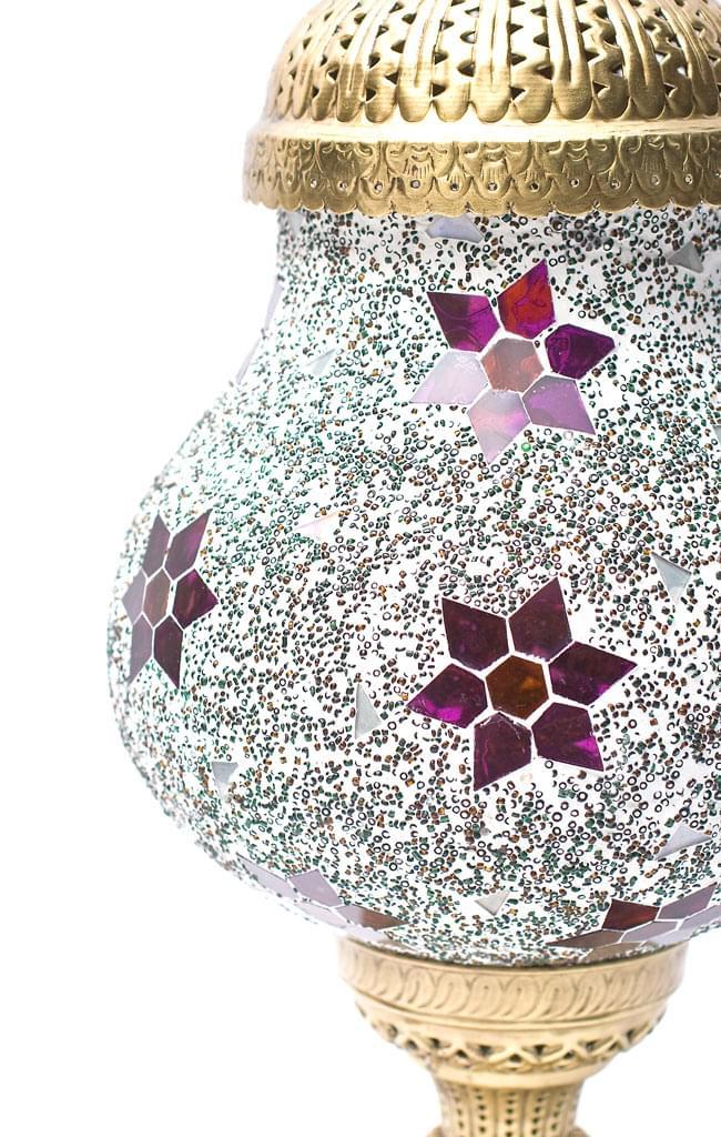 床置き ハーレムモザイクランプ - Aの写真6 - 胴の部分はこのような形です。女性的な造形が美しいですね。