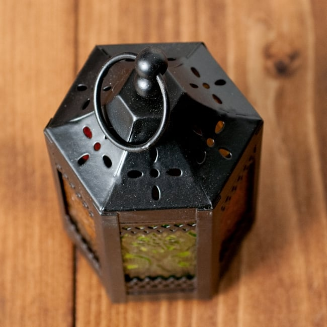 【11.5cm】スタンド型LEDキャンドルランタン【ロウソク風LEDキャンドル付き】の写真3 - 上からの写真です