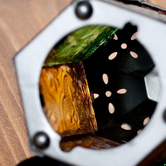 【11.5cm】スタンド型LEDキャンドルランタン【ロウソク風LEDキャンドル付き】の写真8 - 中はこのようになっています