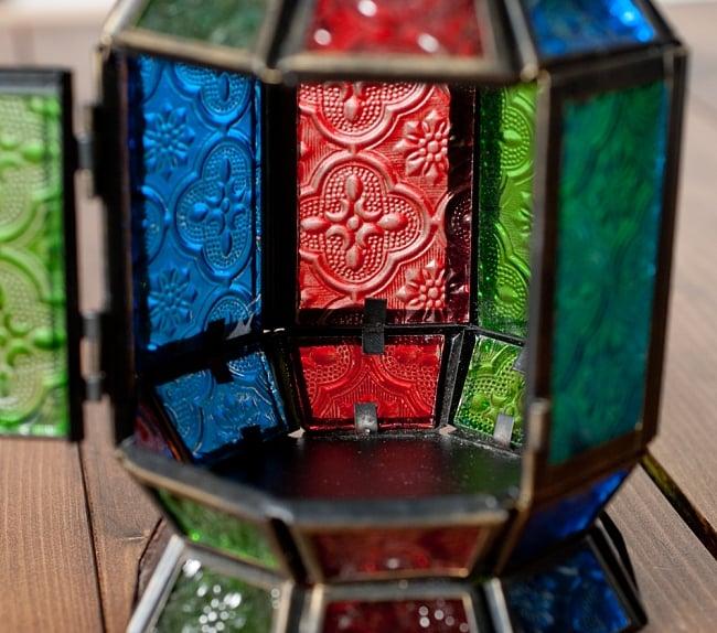 【23cm】スタンド型LEDキャンドルランタン【ロウソク風LEDキャンドル付き】 8 - カラフルで綺麗です