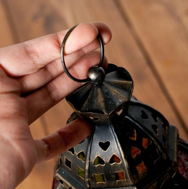 【23cm】スタンド型LEDキャンドルランタン【ロウソク風LEDキャンドル付き】 9 - 輪っかが付いているので、吊り下げもOKです!