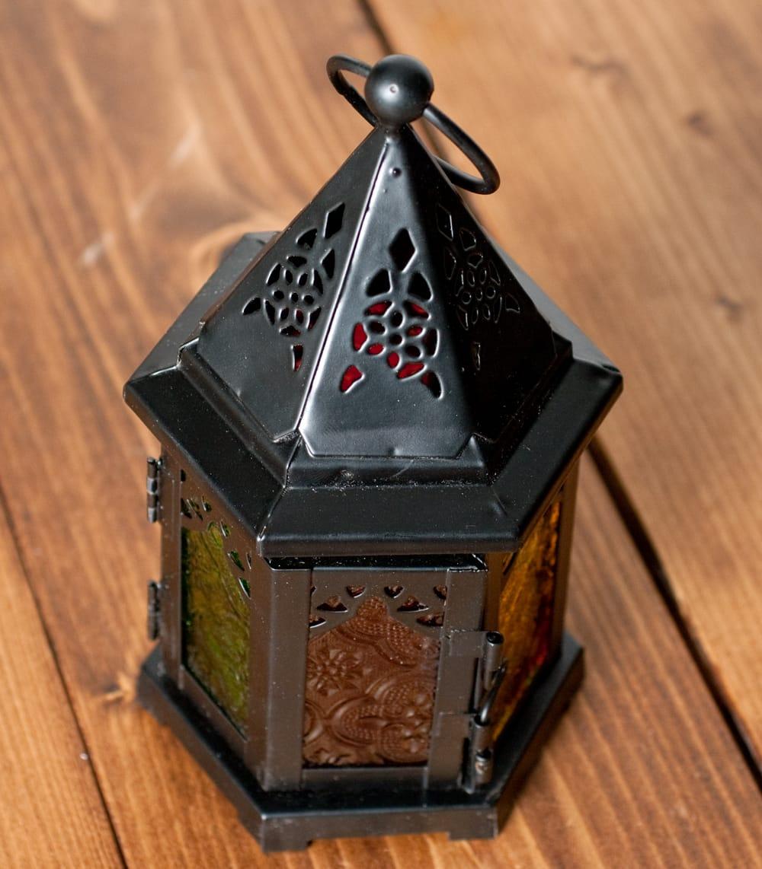 【18cm】スタンド型LEDキャンドルランタン【ロウソク風LEDキャンドル付き】 3 - 上からの写真です