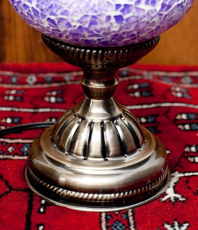 モザイクガラスのアラビアンランプ - 床置の写真5 - 下部の拡大写真です