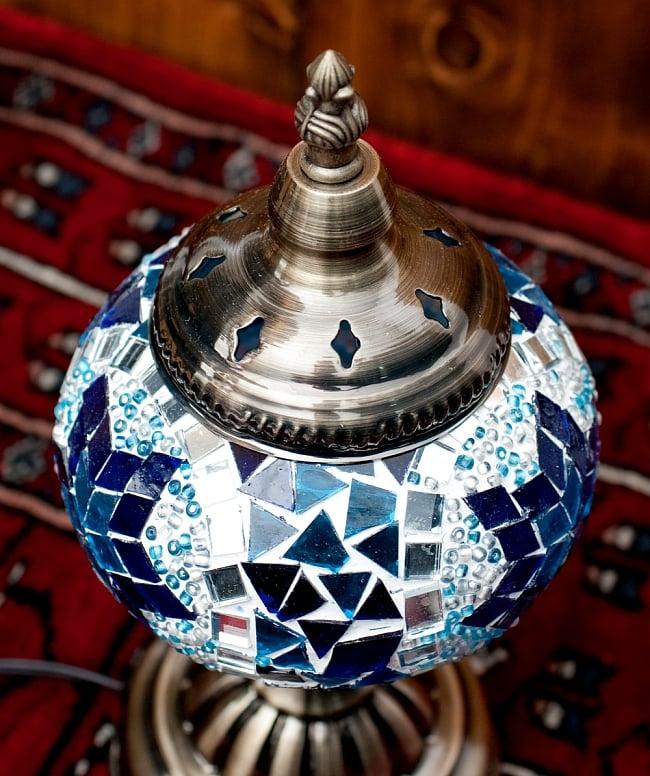 モザイクガラスのアラビアンランプ - 床置の写真3 - 上からの写真です