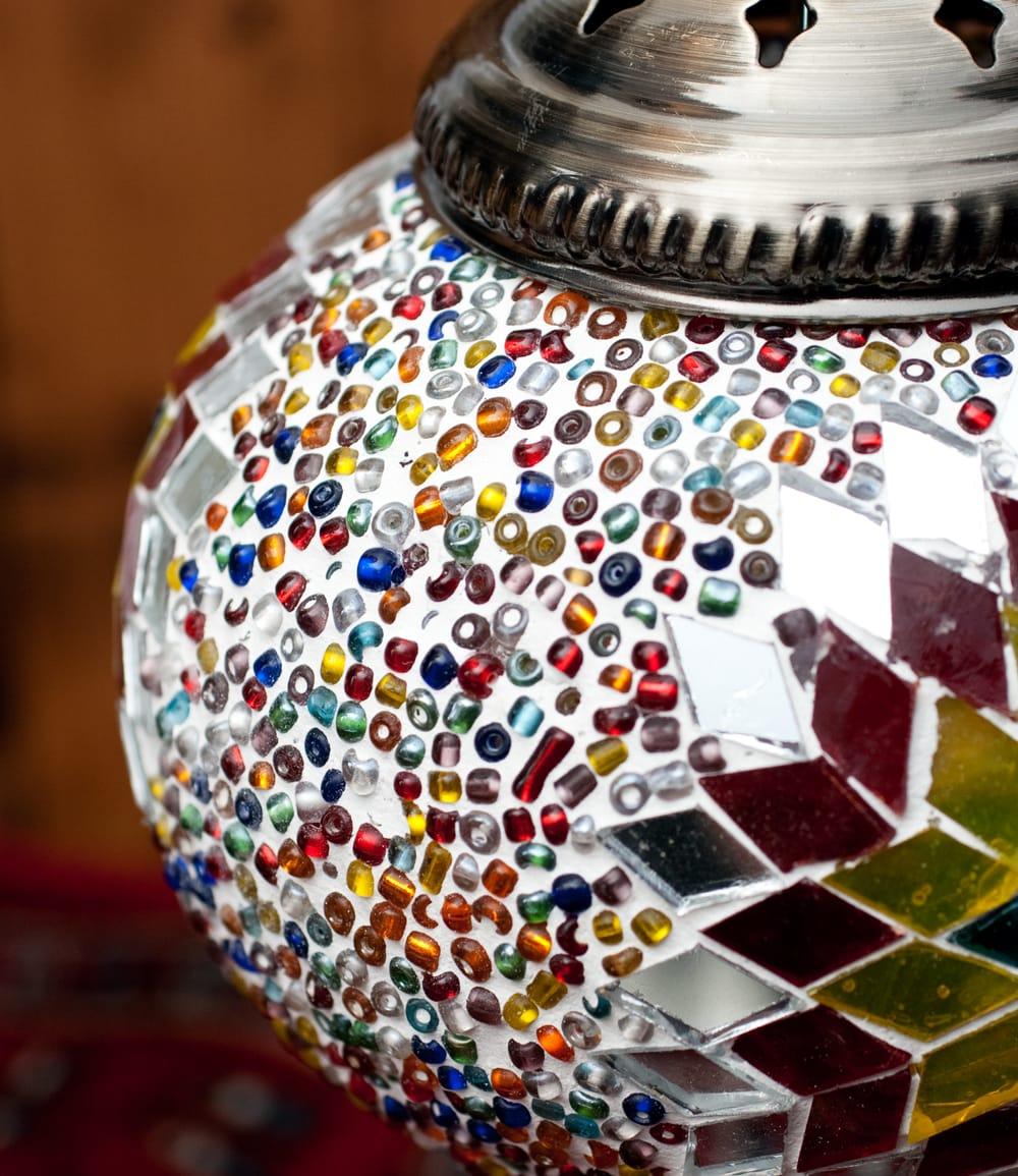 モザイクガラスのアラビアンランプ - 床置 5 - 拡大写真です
