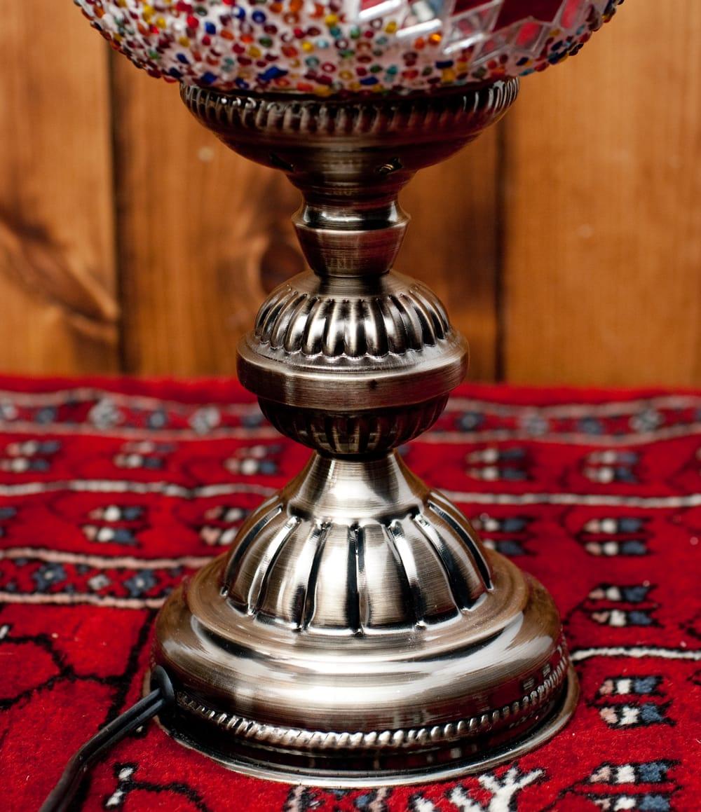 モザイクガラスのアラビアンランプ - 床置 6 - 使っているうちにいい味が出てきそうなランプです