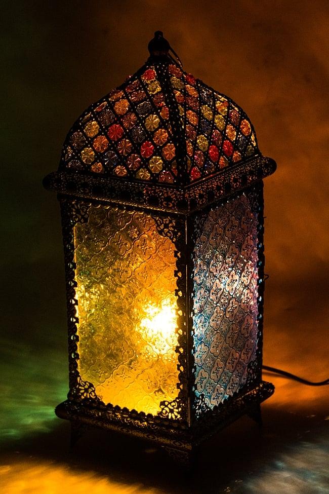 床置・吊下げ兼用アラビアンランプ - 角型の写真