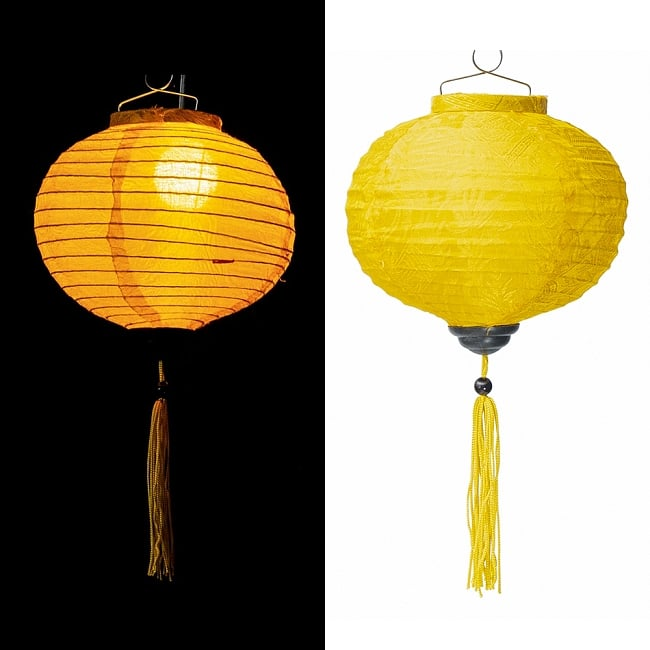 ベトナム伝統のホイアン・ランタン(提灯) -丸型 小 16 - 選択E