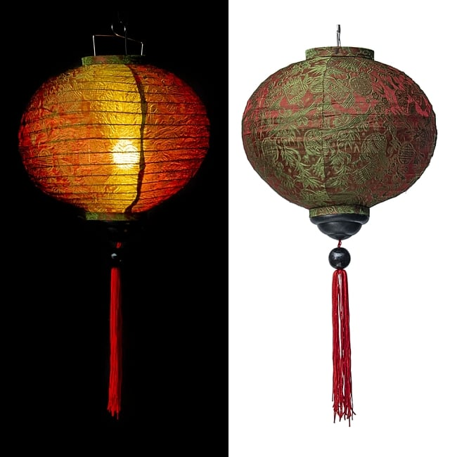 ベトナム伝統のホイアン・ランタン(提灯) -丸型 大 15 - 選択D