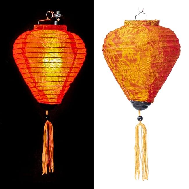 ベトナム伝統のホイアン・ランタン(提灯) - ほおずき型 小 コイルタイプ 12 - 選択A