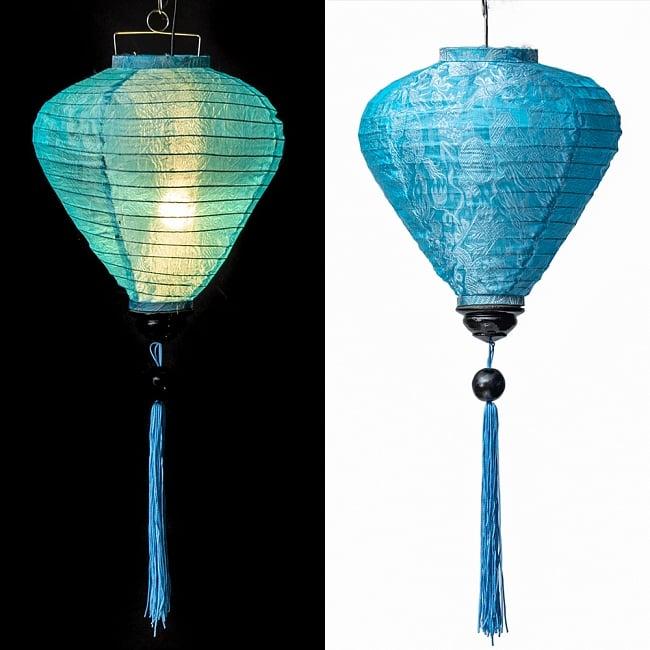 ベトナム伝統のホイアン・ランタン(提灯) -お椀型 大 13 - 選択B:水色