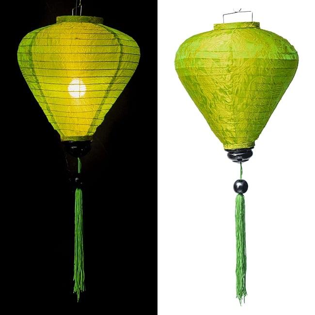 ベトナム伝統のホイアン・ランタン(提灯) -お椀型 大 16 - 選択E:黄緑