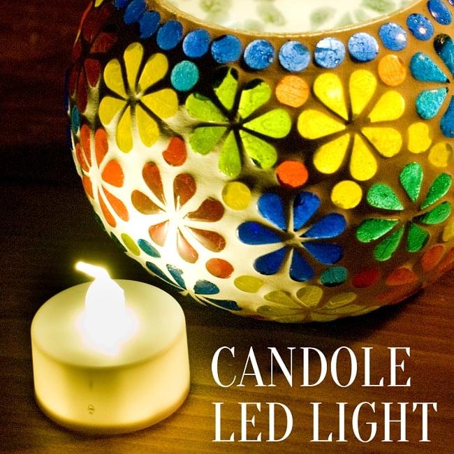小さいのにまぶしい キャンドル型LEDホワイトライトの写真