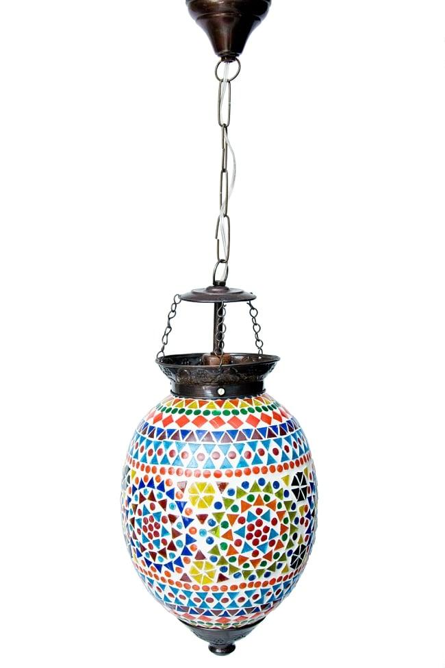 吊り下げモザイクランプ【直径:約20cm】 4 - 明るいところで見てみました。点灯していなくても可愛いです。