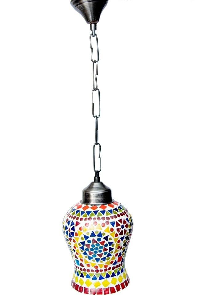 吊り下げモザイクランプ【直径:約13cm】 4 - 明るいところで見てみました。点灯していなくても可愛いです。