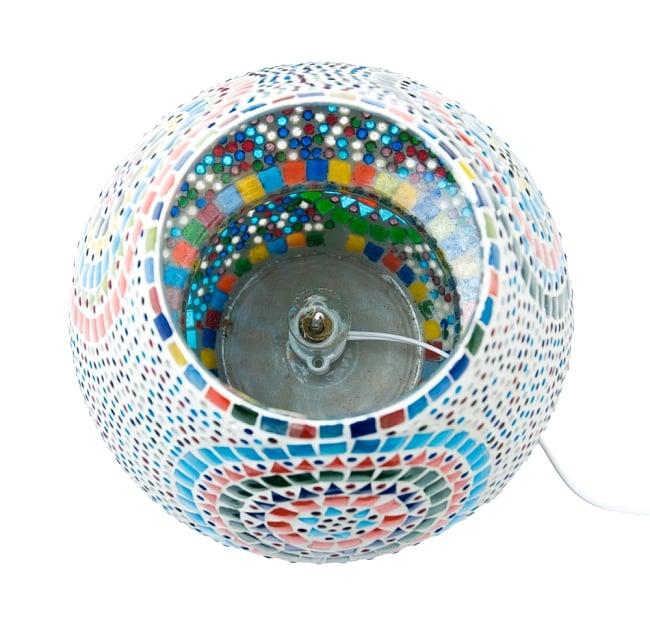 きのこ型ランプスタンド - Lサイズ〔直径:約26�〕 6 - ソケットをランプの中にセットした状態です。ボンドや接着剤でソケットを底に固定してください。