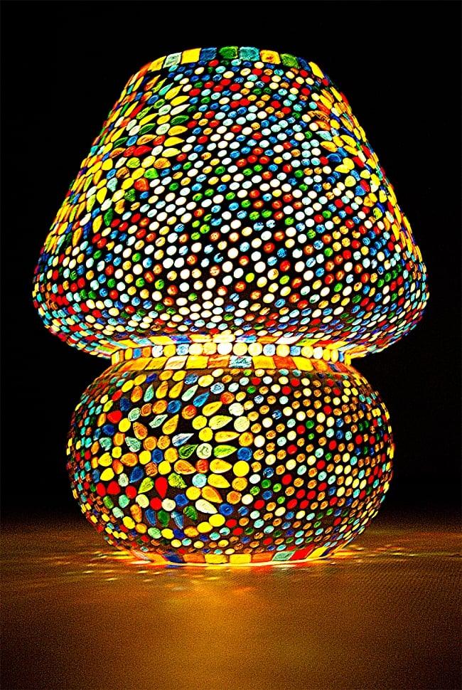 きのこ型ランプスタンド - Lサイズ〔直径:約26�〕の写真