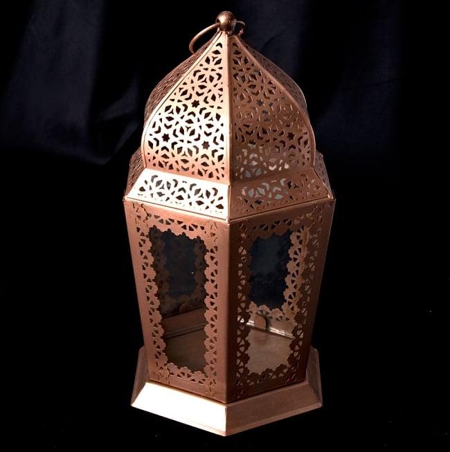 【29cm】モロッコスタイル スタンド型LEDキャンドルランタン【ロウソク風LEDキャンドル付き】の写真