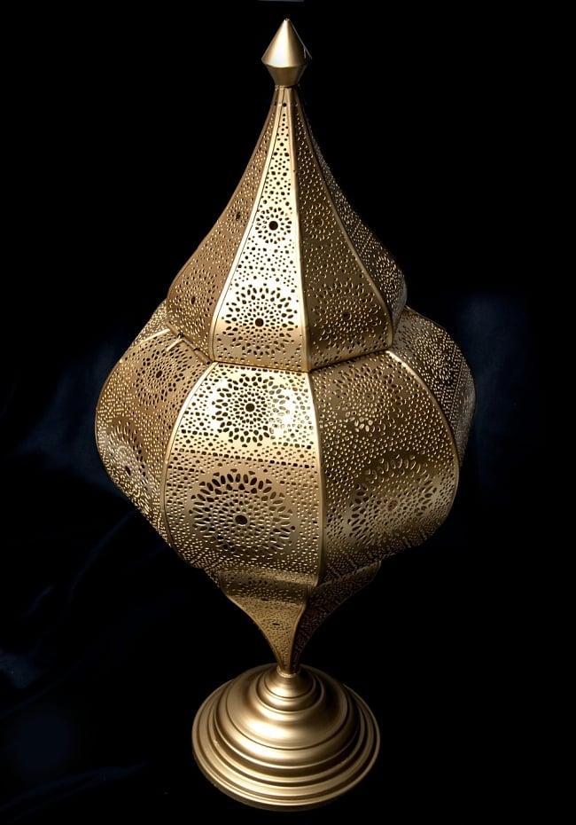 【66cm】モロッコスタイル スタンド型LEDキャンドルランタン【ロウソク風LEDキャンドル付き】 2 - アップにしてみました