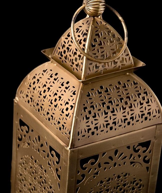 【26.5cm】モロッコスタイル スタンド型LEDキャンドルランタン【ロウソク風LEDキャンドル付き】 2 - アップにしてみました