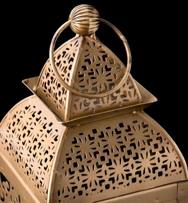 【26.5cm】モロッコスタイル スタンド型LEDキャンドルランタン【ロウソク風LEDキャンドル付き】 3 - アップにしてみました