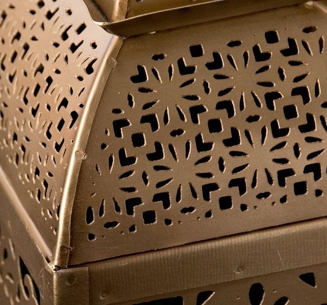 【26.5cm】モロッコスタイル スタンド型LEDキャンドルランタン【ロウソク風LEDキャンドル付き】 4 - アップにしてみました