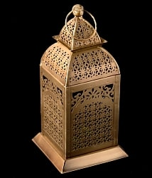 【26.5cm】モロッコスタイル スタンド型LEDキャンドルランタン【ロウソク風LEDキャンドル付き】