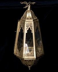 【50cm】モロッコスタイル 吊り下げ型LEDキャンドルランタン【ロウソク風LEDキャンドル付き】