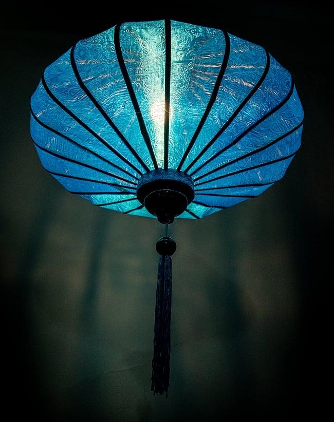 ベトナム伝統のホイアン・ランタン(提灯) - 薄ひし形(大) 3 - 幻想的な趣がありますね。