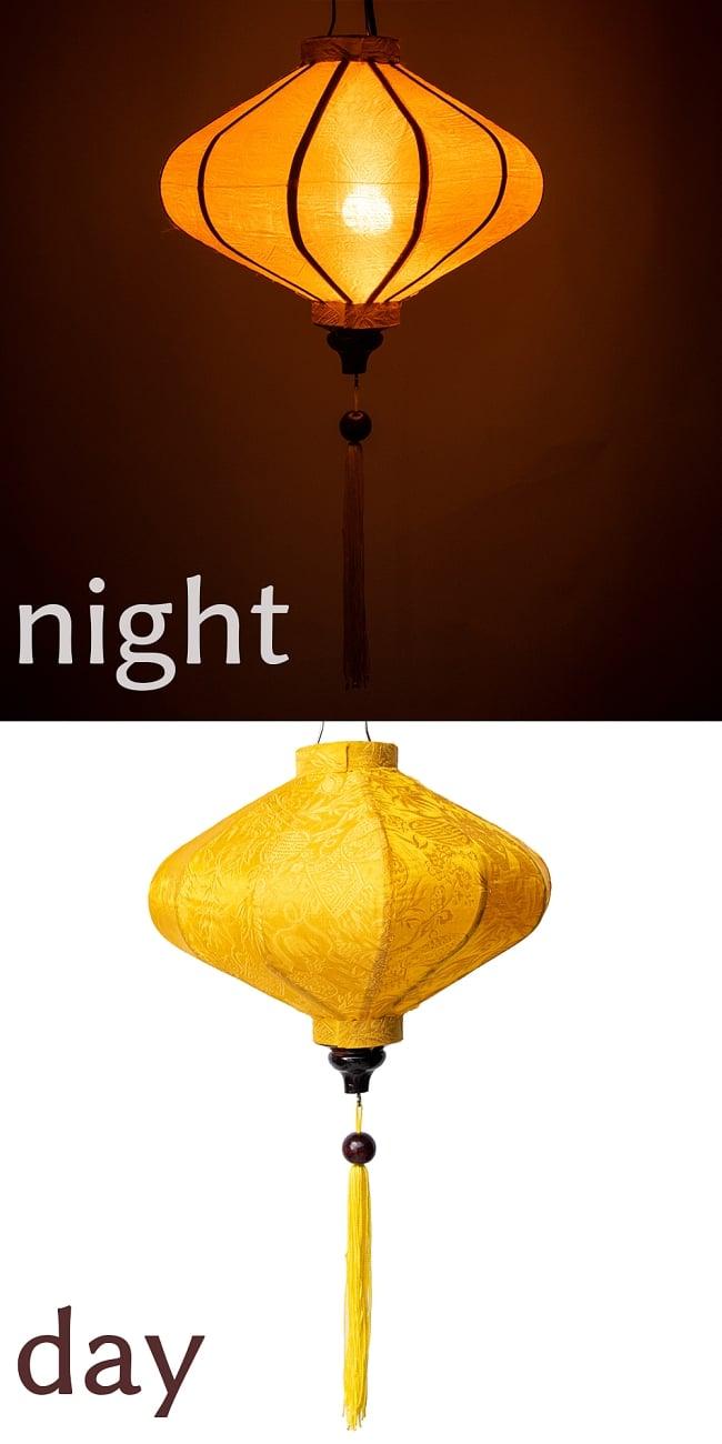 ベトナム伝統のホイアン・ランタン(提灯) - 薄ひし形(小) 17 - 3:黄
