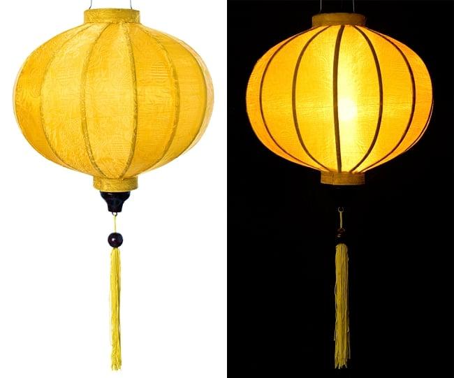 ベトナム伝統のホイアン・ランタン(提灯) - 丸型(中) 11 - 選択1:黄