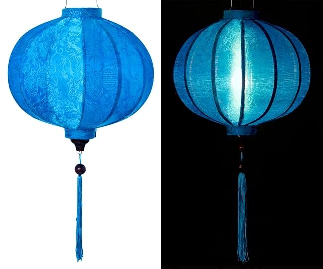 ベトナム伝統のホイアン・ランタン(提灯) - 丸型(中) 13 - 選択3:青