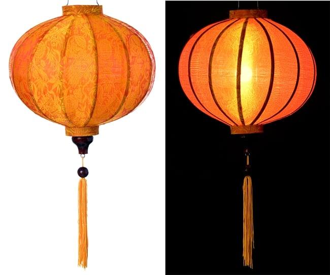ベトナム伝統のホイアン・ランタン(提灯) - 丸型(中) 15 - 選択5:橙